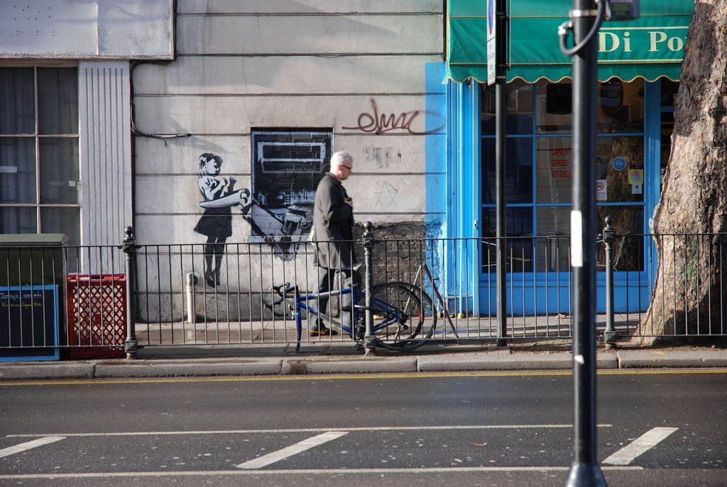 Un Banksy tout 'Valentine'