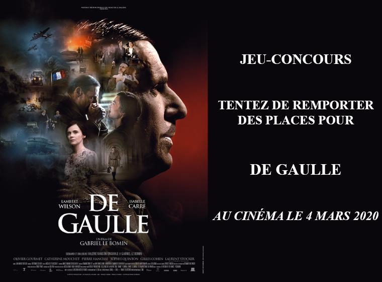 10×2 places à gagner pour le film 'De Gaulle' de Gabriel Le Bomin