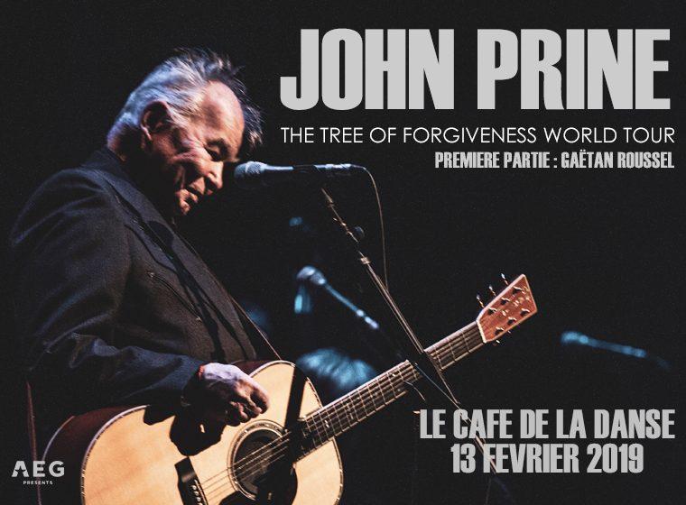 2 places à gagner pour le concert de John Prine et Gaëtan Roussel le 13 février au Café de la Danse