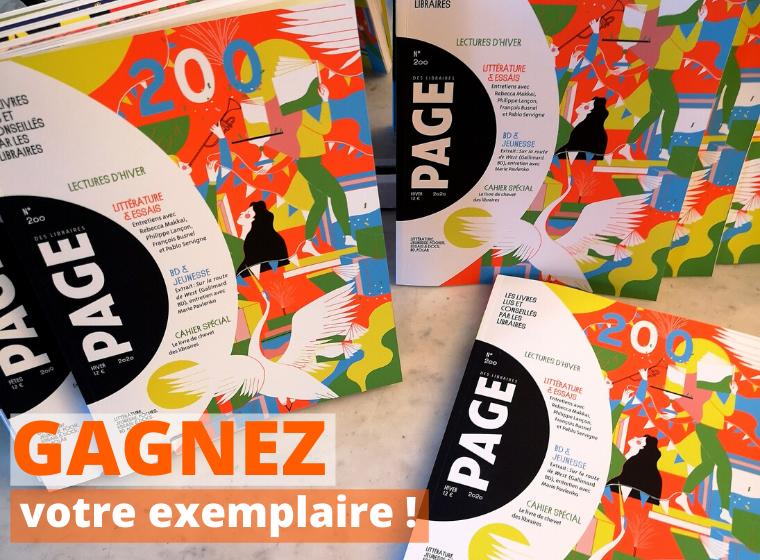 Gagnez 10 exemplaires de la revue PAGE des Libraires #200 dédiée à la rentrée d'hiver !
