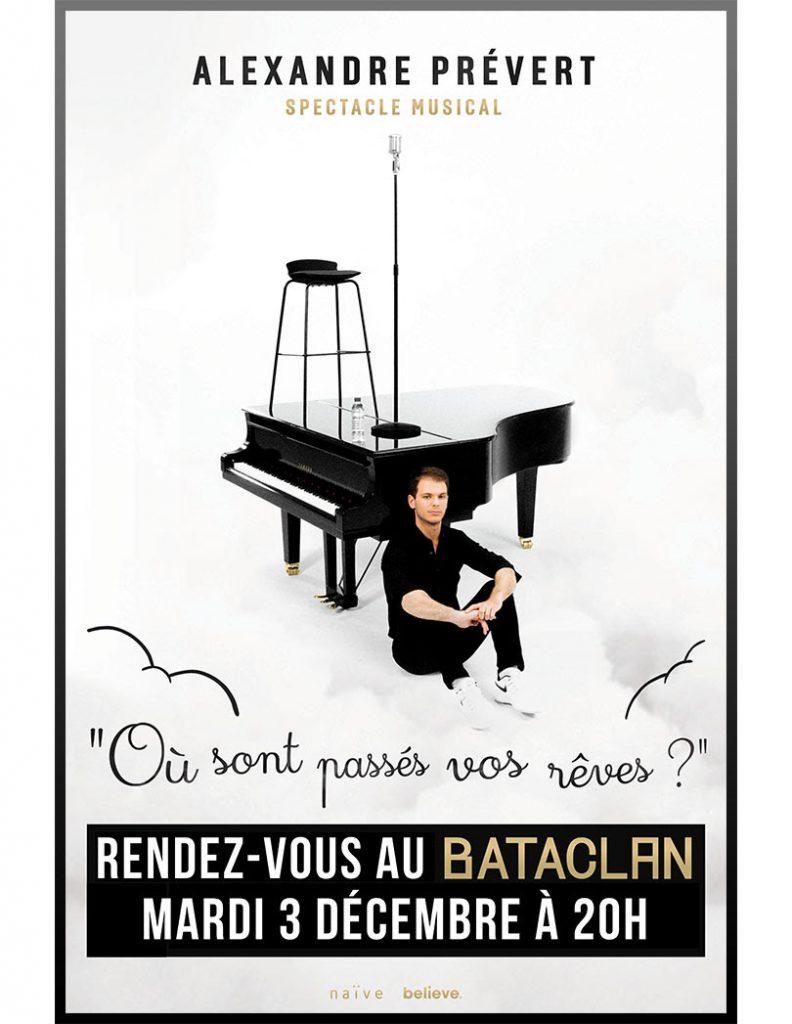 Alexandre Prévert au Bataclan, le pianiste stand-upper au cœur tendre parti en tournée !