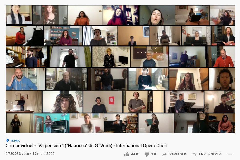 Ces musiciens qui se filment dans leur confinement (14) Spécial chœurs