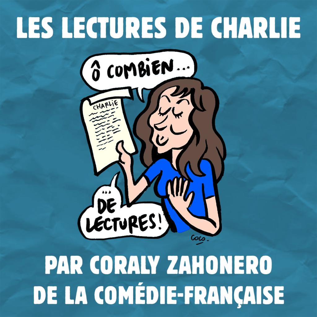 Coraly Zahonero, sociétaire de la Comédie Française, en confinement crée les Podcast de Charlie-Hebdo