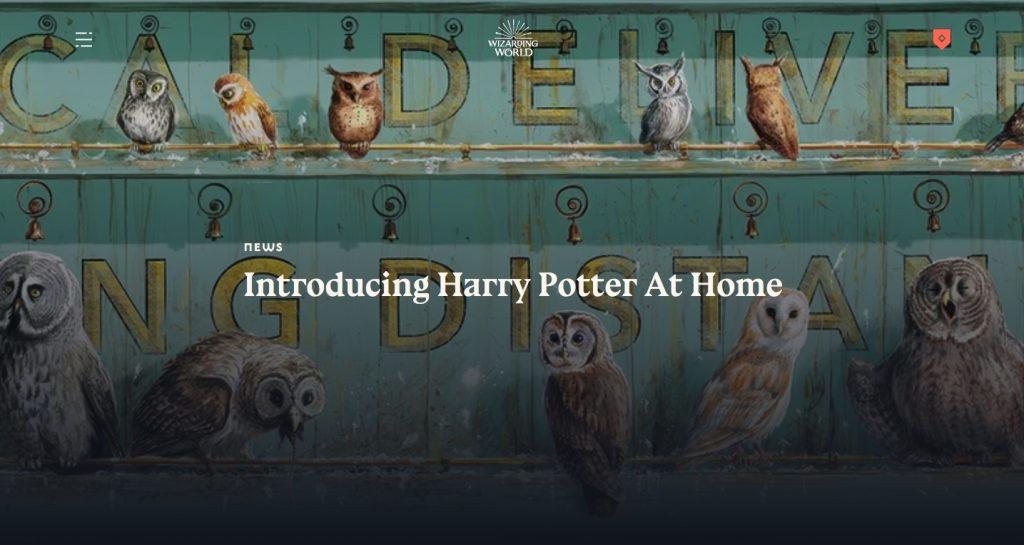 Pour un confinement magique : Harry Potter débarque chez vous