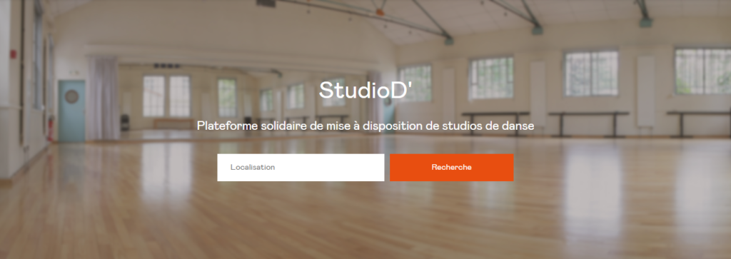 Studio D, la plateforme qui met en relation les danseurs et les studios