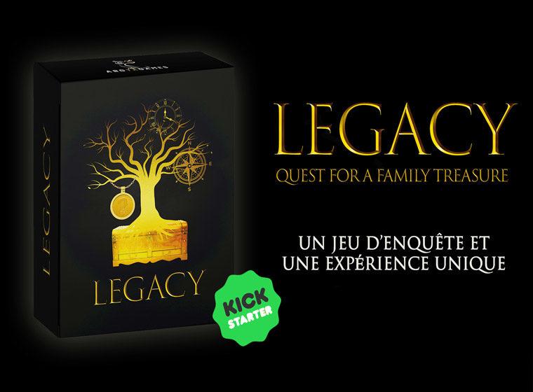 Jeu de société : 2 exemplaires de « LEGACY : Quest for a Family Treasure » à gagner