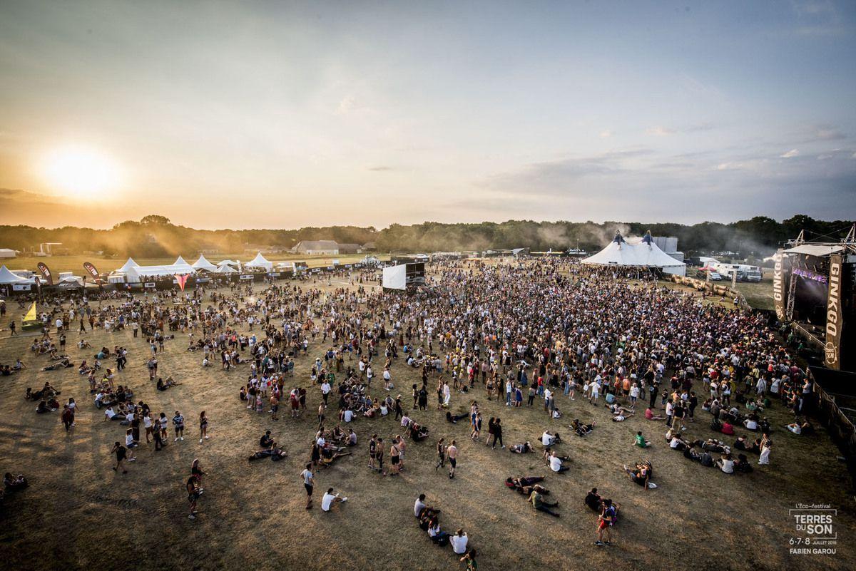 vue aérienne du festival