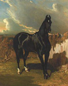 Alfred de Dreux, black knight