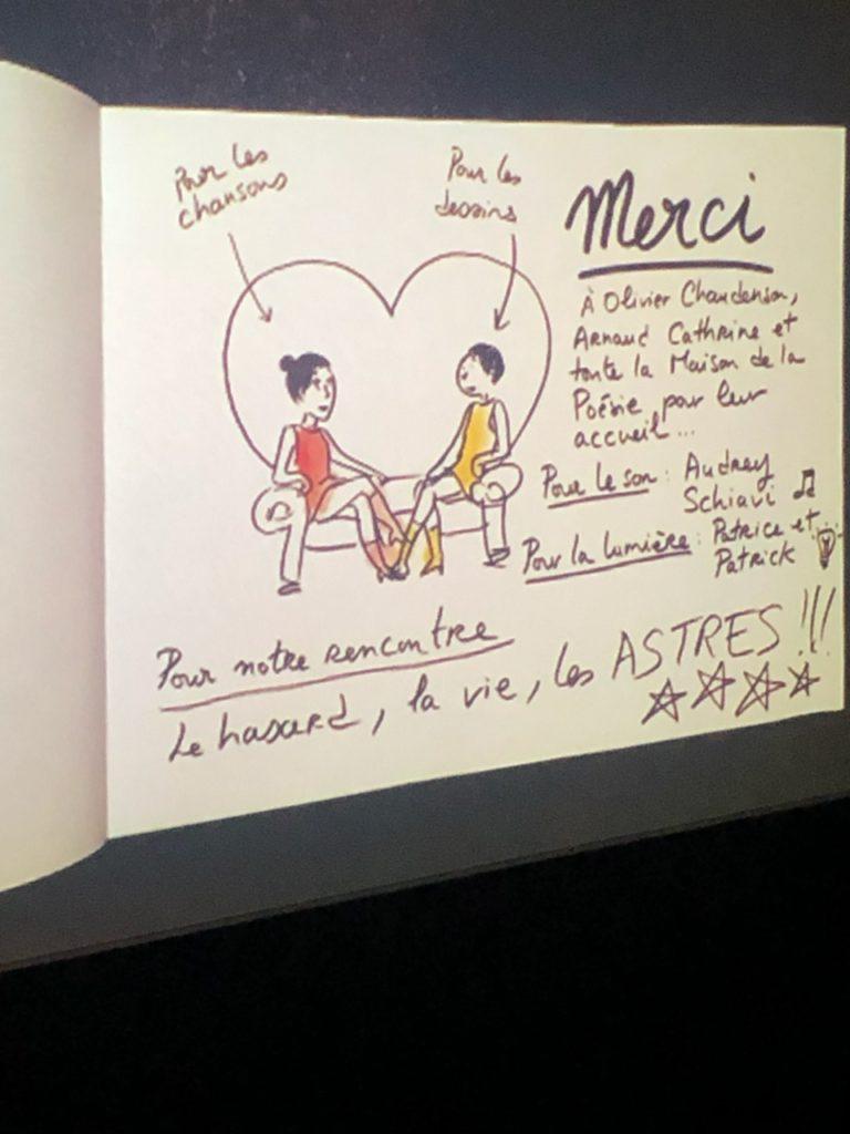 Quand Jeanne Cherhal chante et Aurélia Aurita dessine : le «concert dessiné» revient à la Maison de la Poésie