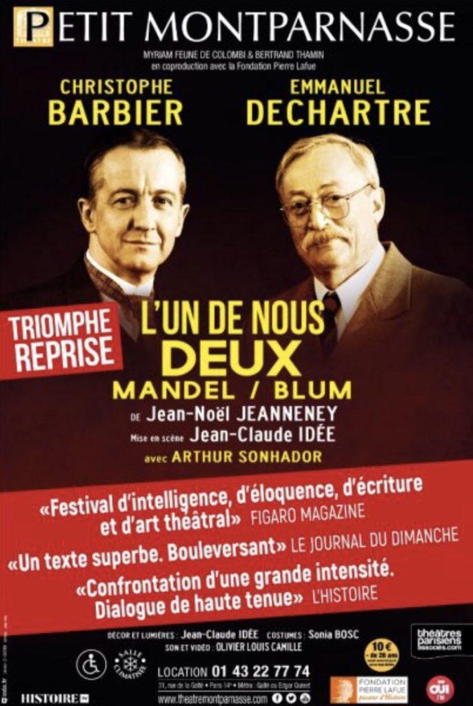 «L'un de nous deux», une leçon d'histoire politique, au Petit Montparnasse
