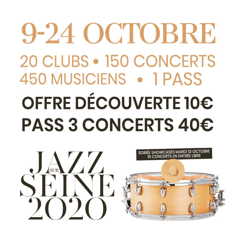 Ecoutez en avant première la playlist du Festival Jazz Sur Seine !