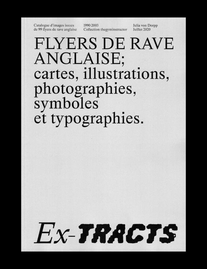 Des flyers de rave party des années 90 compilés dans un catalogue