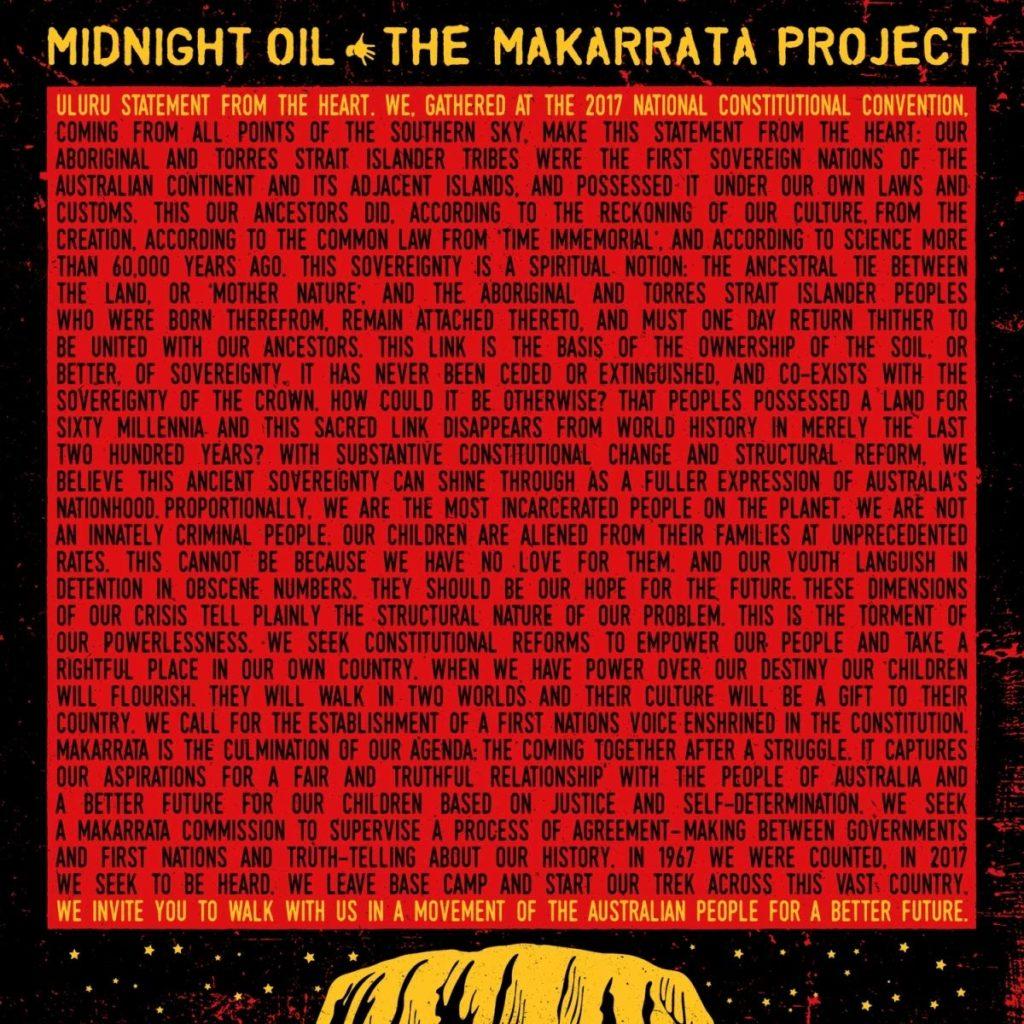 Midnight Oil The Makarrata Project : le brûlot en faveur de la réhabilitation du peuple aborigène