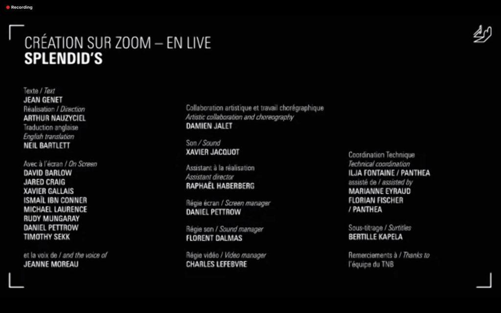 Entretien avec Arthur Nauzyciel – Splendid's création sur Zoom & live : Une révolution des Arts vivants ?!