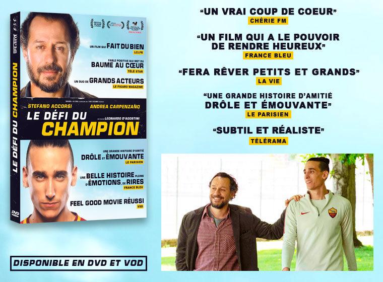 Jeu concours : 3 DVD du film LE DÉFI DU CHAMPION à gagner