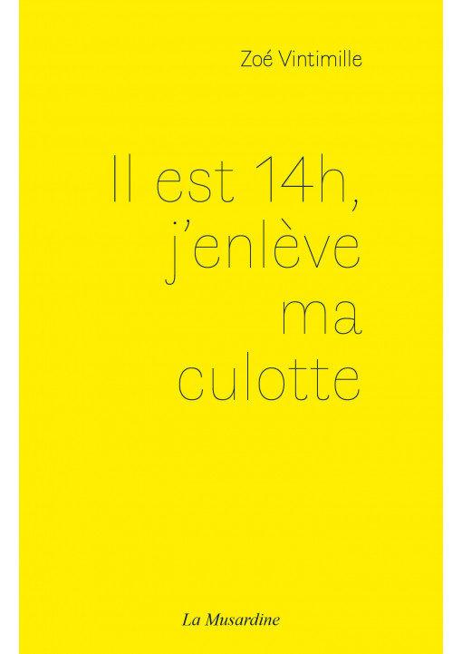 «Il est 14h, j'enlève ma culotte» de Zoé Vintimille, brèves de désir