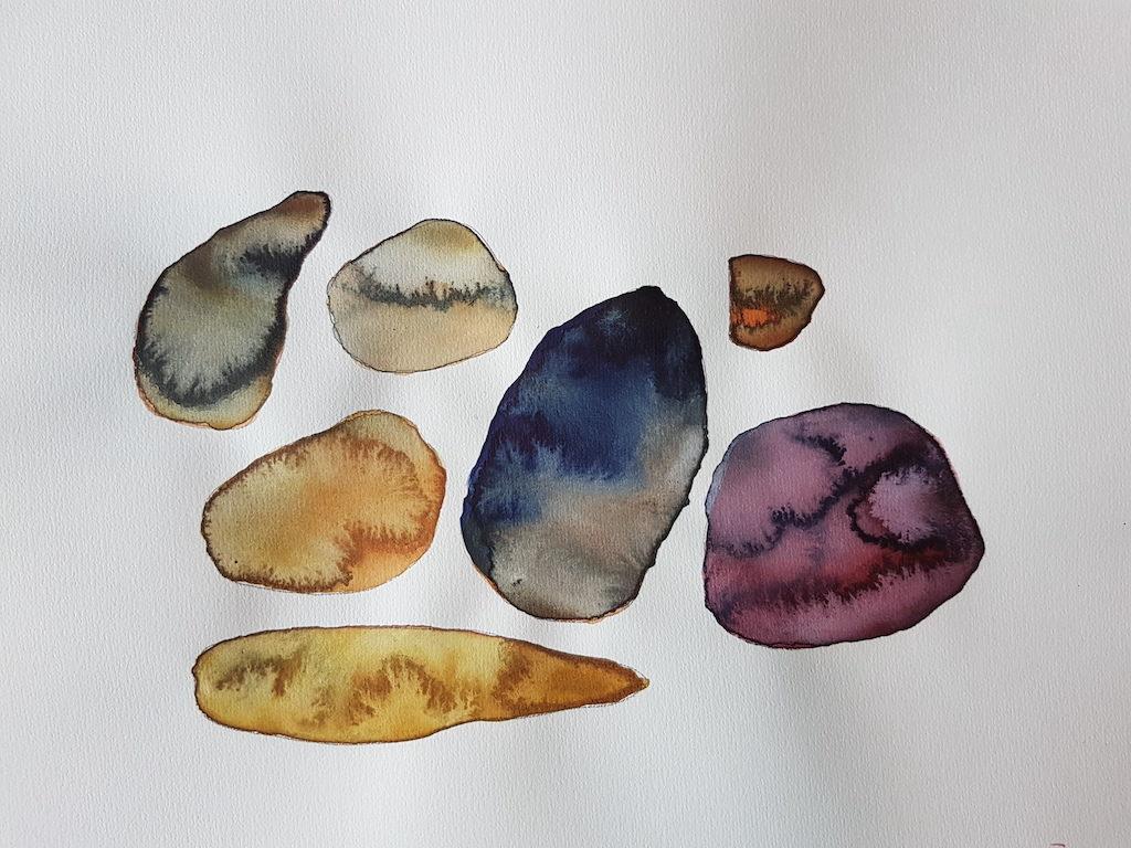 La disparition du sable, aquarelles de Maud Louvrier-Clerc