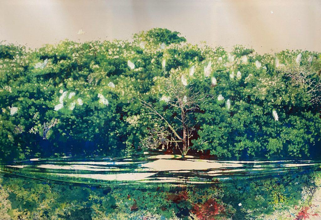 Alexandre Lenoirà la galerie Almine Rech: plongée en eaux double