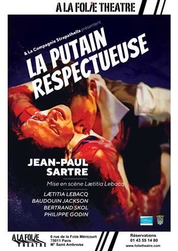 La putain respectueusede Jean-Paul Sartre à La folie théâtre