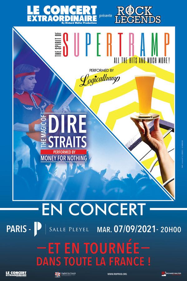 Le concert extraordinaire présente Rock Legends : Tribute to Dire Straits & Supertramp