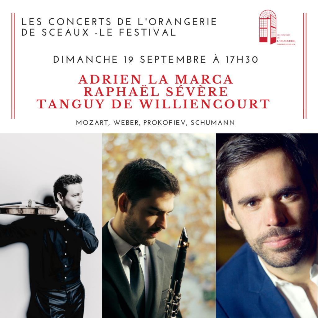Clarinette, alto et piano : Un trio inédit, Au festival de l'Orangerie à Sceaux