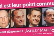 Un site de rencontres extra conjugales utilise des photos d'hommes politiques pour faire sa pub