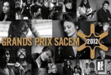 Les Grands Prix Sacem 2012 dévoilent leur palmarès
