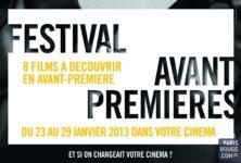 Le festival Avant-Première: un goût d'inédit dans les cinémas