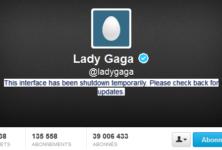 Lady Gaga ferme son compte twitter