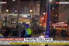 Dans le West End de Londres, une partie du plafond de l'Apollo Theatre s'effondre en pleine représentation