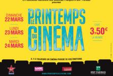 Printemps du cinéma 2015 : tarif de 3,50 € la séance du 22 au 24 mars. Programme et sélection des films à ne pas manquer.