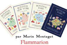 « Bonjour » et « Bonsoir » Paris : deux guides en formes de cartes bien annotés signées Marin Montagut