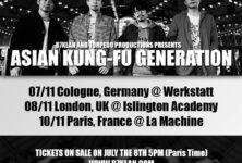 [Live Report] Concert parisien d'Asian Kung Fu Generation à la Machine le 10 novembre 2015