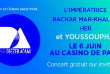 Gagner 2 Invitations VIP pour le Prix Deezer Adami 2016