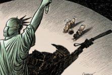 [Revue de presse] Hamon, Muslim Ban, Pénélope et Fillon Gate : janvier 2017 en caricatures et dessins d'actualité