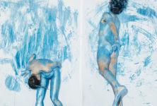 Endo, l'action painting délirant de David Wampach éclabousse Montpellier Danse