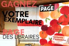 Gagnez 3×1 exemplaire du numéro d'automne de la revue PAGE des libraires