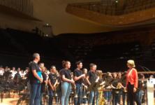Françoise Nyssen annonce son plan «Tous musiciens d'orchestre» à la Philharmonie de Paris