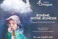 Gagnez 3×2 places pour Bohème, notre jeunesse à l'Opéra Comique