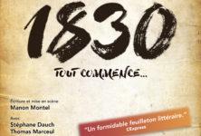 1830, Sand Hugo Balzac tout commence… de Manon Montel à l'Essaion Théâtre.