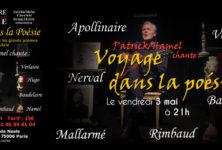 Patrick Hamel nous invite dans un Voyage en poésie au Théâtre de Nesle