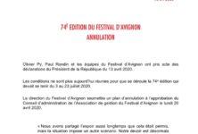 Le 74e Festival d'Avignon n'aura pas lieu