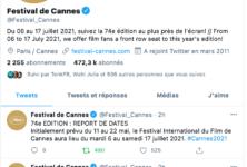 Le Festival de Cannes repousse ses dates au mois de juillet