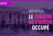 VIDÉO : Le théâtre de l'Odéon occupé