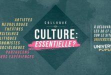 Un colloque sur le thème «Culture : essentielle ?» organisé au Théâtre 14