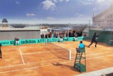 Roland-Garros sur le toit des Galeries Lafayette